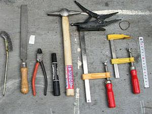 買いそろえていた溶接用工具も一緒にお売りください。